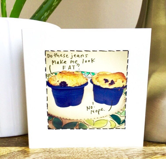 Funny Friend card, Muffin top, card for her, card for him, friendship card, sidesandwich, card for sister, funny friendship, handmade