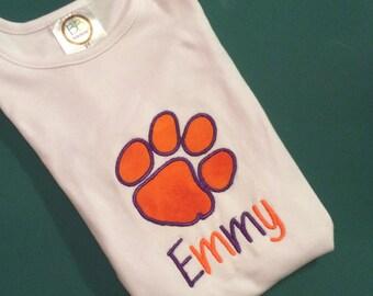 Clemson Tiger Appliqué Shirt