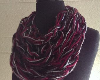 Winter Scarf - Dahlia, Neck Scarf, Knit Scarf, Knitted Scarf, Knitted Scarves, Neck Warmer, Scarves