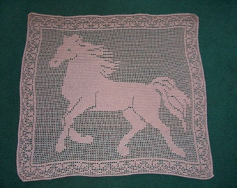Filet Crochet for Horse Lovers pattern only Wind Runner