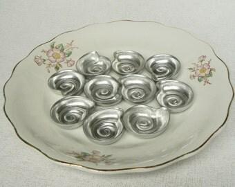 Set of 10_Vintage Metal Baking Forms, Biscuit Baking Molds, Kitchen Appliances, Soviet Style, USSR (03)