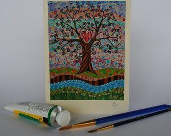 The Lovers Tree, Tree of Life (19) Art Print Greeting card