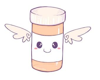 Medication Sprite sticker