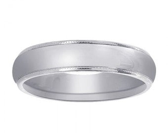 5.0 mm 14K White Gold Wedding Band
