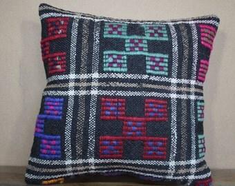 "Kilim Pillow,Kilim Cushion Cover Throw Pillow Turkey Kilim Pillow 16"" x 16"" 40cm x 40 cm SP40-318"