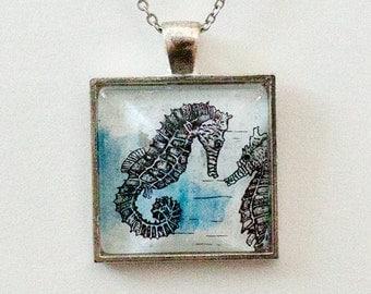 Seahorse Pendant Handmade