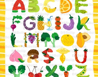 SALE - Limited Time Offer -  Alphabet of fruit - Buy 2 Get 1 Free!!