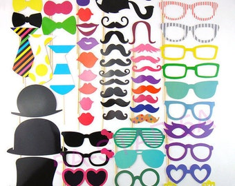 Lot of 60 accessories photobooth