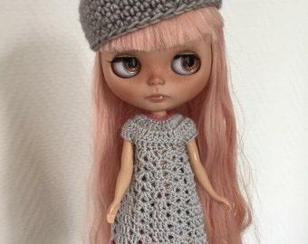 Crochet dress Blythe grey