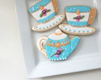 Teapot and Teacup Cookies
