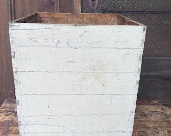 Wood box Painted Grey