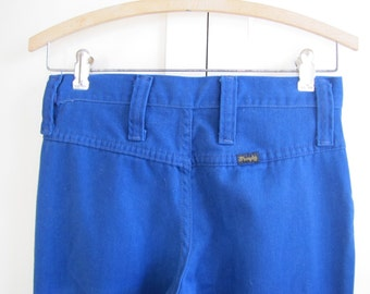 1970's Wrangler Blue Bell-Bottom Pants, Wrangler, Bell-Bottoms, Cotton, Pants, 1970's, 1980's, Western, Flare, Small, Extra Small, 70's