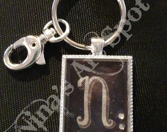 Your Initial Key Chain, Magnet, Necklace, Planner or Purse Charm