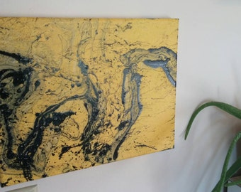 Hand made, water dip painting on canvas