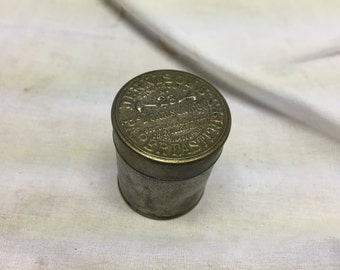 Antique tin Dennisons manufacturing company Paper fasteners