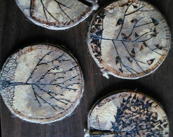 Rustic coasters - Four seasons.