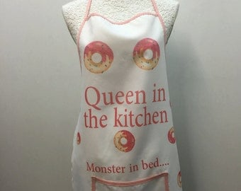 Funny white cooking apron/ bachelorette party funny apron / party accessories / bride / bridesmaids / wedding / bachelorettes/party supplies