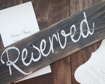 Reserved Seating Wooden Wedding Sign, Wedding Signs, Wedding Decor, Reserved Signs, Rustic Wedding Signs, Reclaimed Wood Signs, Custom Signs