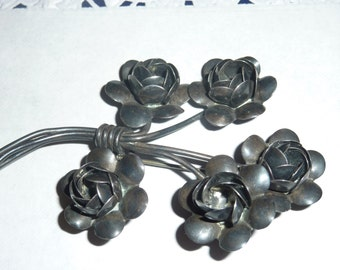 Vintage Sterling silver Coro signed floral brooch