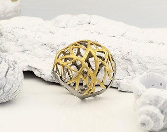 Sterling Silver 925 Ring Gold Plated