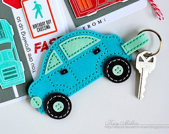 Felt Keychain, Car Key Ring, Car Keychain, Handmade Keychain,  Key Ring, Felt Key Ring, Handmade Key Ring