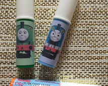 15 x Personalised Thomas Tank Whistle Lollipops Lollys  Swizzel Love Hearts Lipstick - Party Bag Treat Sweets, Train, Fat Controller, Henry