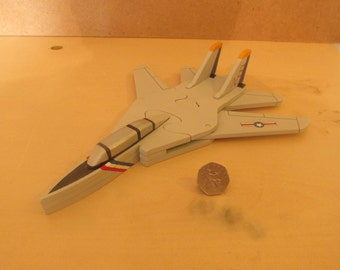 hand made wooden 3D F-14 puzzle