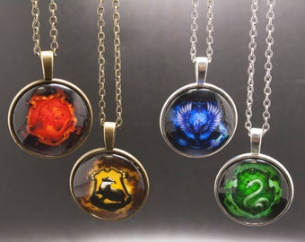 Hogwarts House Necklaces - 4 Houses to choose from!