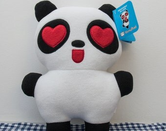 Panda plush toy in love - Valentine's Day Panda - Plushie - Toy