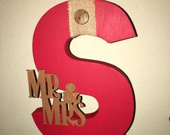 Custom Mr. & Mrs. Letter