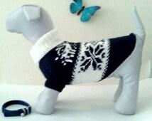 Knit Winter Pattern Big Dog Sweater. Big Pet Sweater. Big Dog Clothes. Big Dog Dress. Pattern Clothes for Big Dog. Size L
