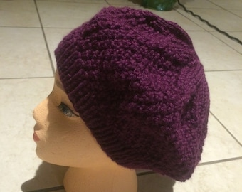 Ladies French Beret Hat - Handmade Made to Order