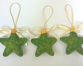 Set of 3 Star Christmas Tree Ornaments