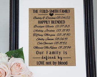 Blended Family Wedding Gift - Blended Family Sign - Stepmother Gift - Step Family Signs - Blended Family Gift - Stepmom Wedding Gift