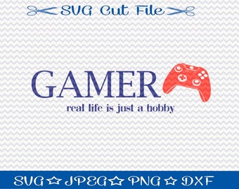 Gamer SVG File Download / SVG Cut File for Silhouette or Cricut / Video Game svg/ World of Warcraft / Diablo / Battlefield / Halo