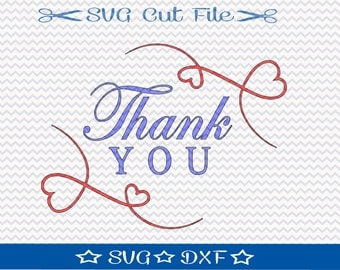 Thank You SVG Cut File / Silhouette File / Digital Download / Wedding SVG