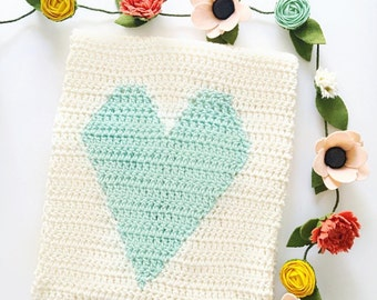 Crocheted Heart Blanket