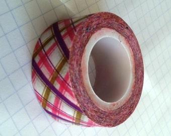 Washi Tape Sample #37 - Pink plaid