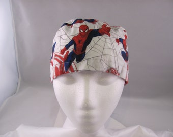Men's Scrub Hat Spiderman