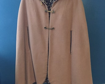 Beautiful women's camel hair cape