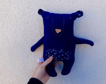 Cute Stuffed Bear/ Stuffed Animal/ Handmade bear- Different colors!