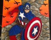 MARVEL: Captain America String Art and Painting