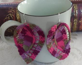 Romanian Point Lace Earrings - 212LC