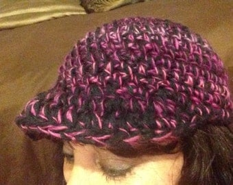Black and plum ball cap