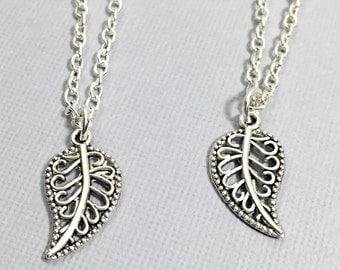 Leaf Necklace, Filigree Leaf Necklace, Leaf Jewelry, Nature Necklace, Nature Jewelry,Silver Filigree Charm Necklace,Leaf Pendant Necklace