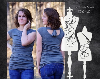The Simply Ruched Top (Women's Sizes) PDF Sewing Pattern