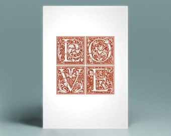 LOVE printable card