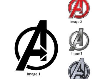 Avengers Logo Halloween Costume Iron On Transfer
