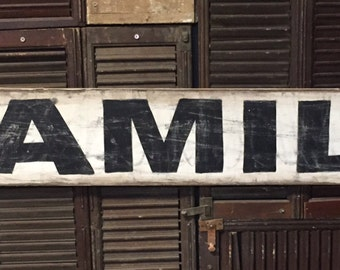 """7"""" x 48"""" Vintage style """"Family"""" sign"""