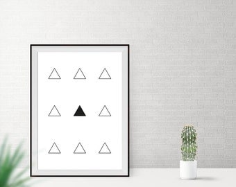 Art print / / triangles / / Middle
